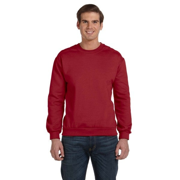 Crew-Neck Men's Fleece Independence Red Sweater