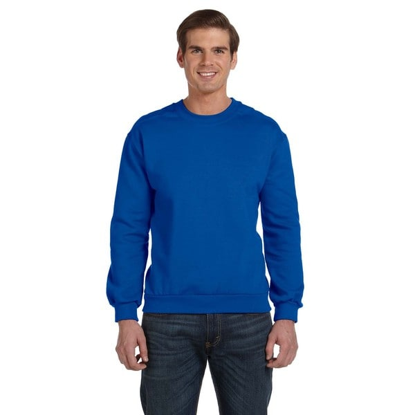 Crew-Neck Men's Fleece Royal Blue Sweater