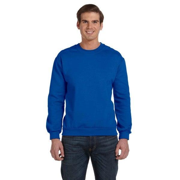 Crew-Neck Men's Fleece Royal Blue Sweater