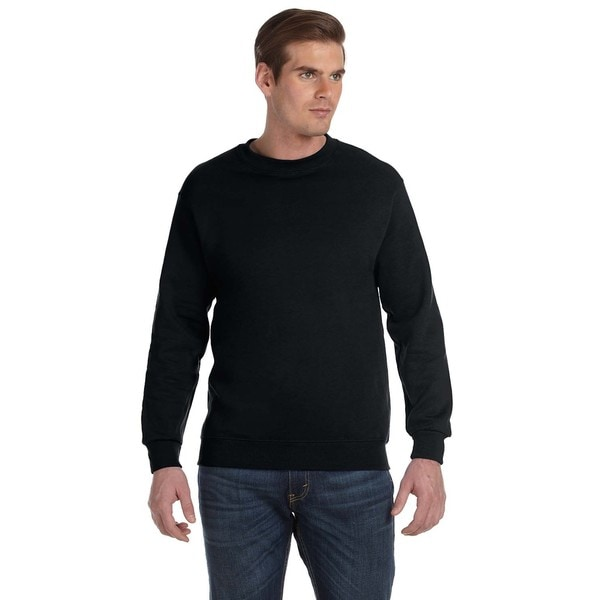 50/50 Fleece Men's Crew-Neck Black Sweater