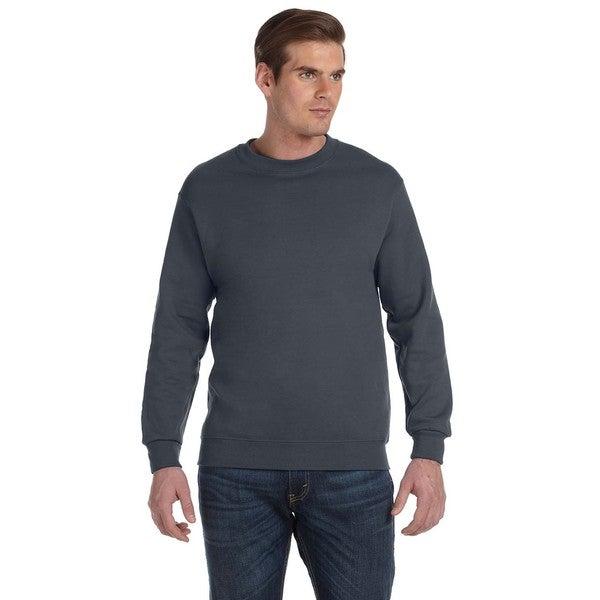 50/50 Fleece Men's Crew-Neck Charcoal Sweater 20031899