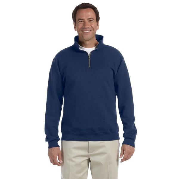 50/50 Super Sweats Nublend Fleece Quarter-Zip Men's Pullover J Navy Sweater