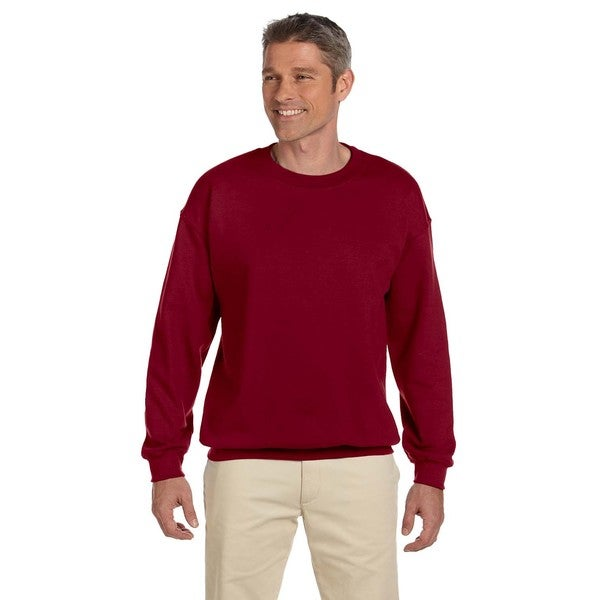 50/50 Fleece Men's Crew-Neck Garnet Sweater