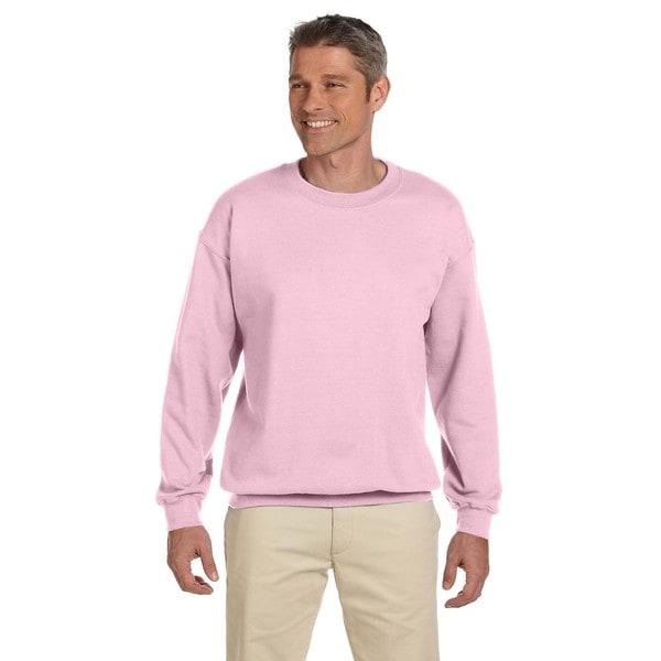 50/50 Fleece Men's Crew-Neck Light Pink Sweater