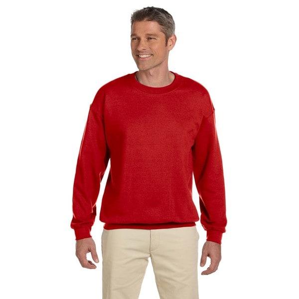 50/50 Fleece Men's Crew-Neck Red Sweater