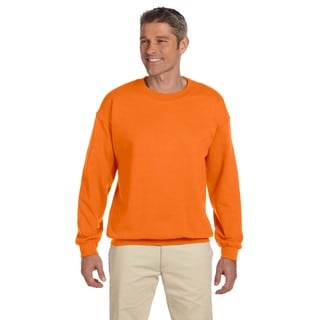 50/50 Fleece Men's Crew-Neck Safety Orange Sweater