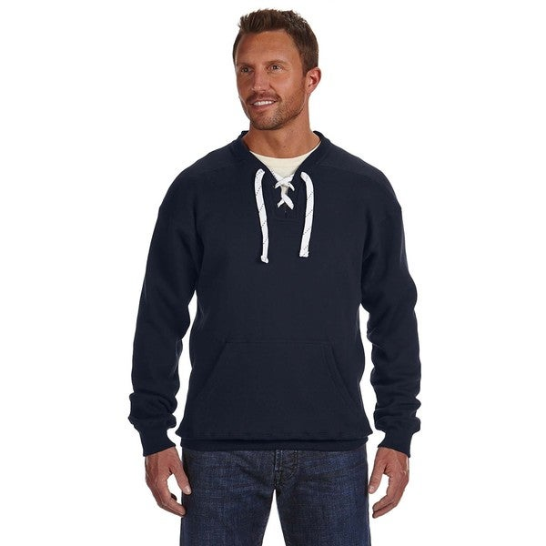 Sport Men's Lace Crew-Neck Navy Sweater