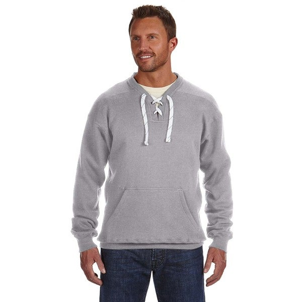 Sport Men's Lace Crew-Neck Oxford Sweater