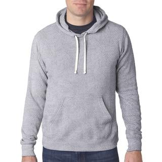 Triblend Men's Pullover Fleece Hood Grey Triblend Sweater
