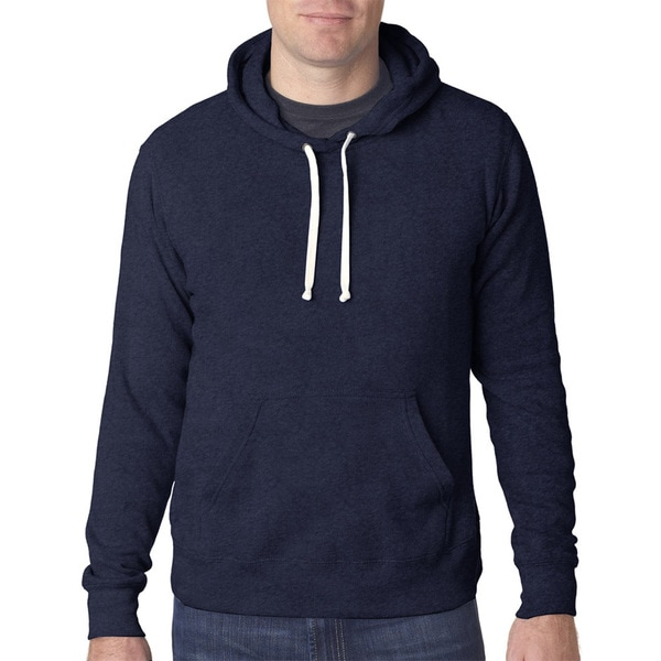 Triblend Men's Pullover Fleece Hood Navy Triblend Sweater