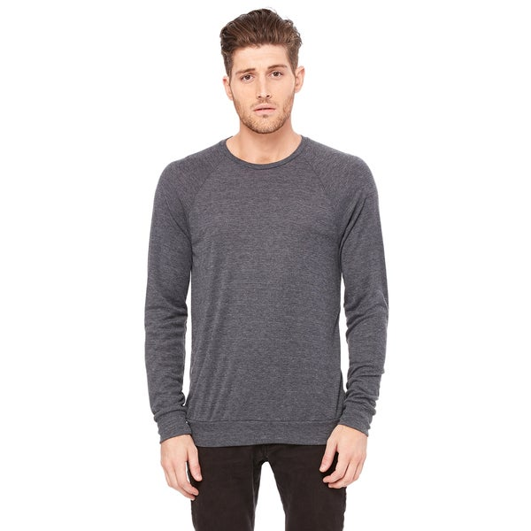 Unisex Dark Grey Heather Lightweight Sweater