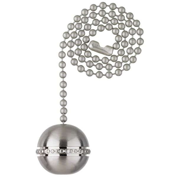 Westinghouse 7710400 Brushed Nickel Finish Beaded Ball Pull Chain