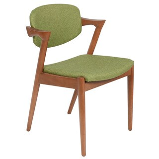 Kai Kristiansen Style Green Dining Chair,