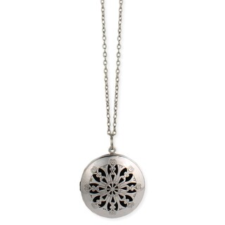 Handmade Artisan Cutwork Diffuser Locket 30 inch Necklace (India)