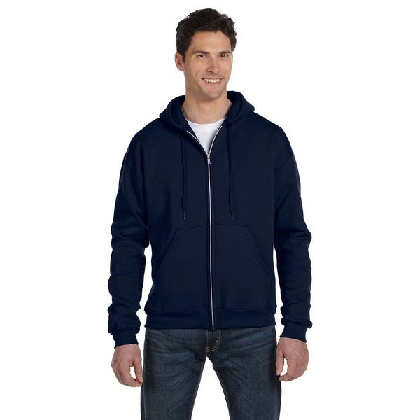 Men's Navy Full-Zip Hood