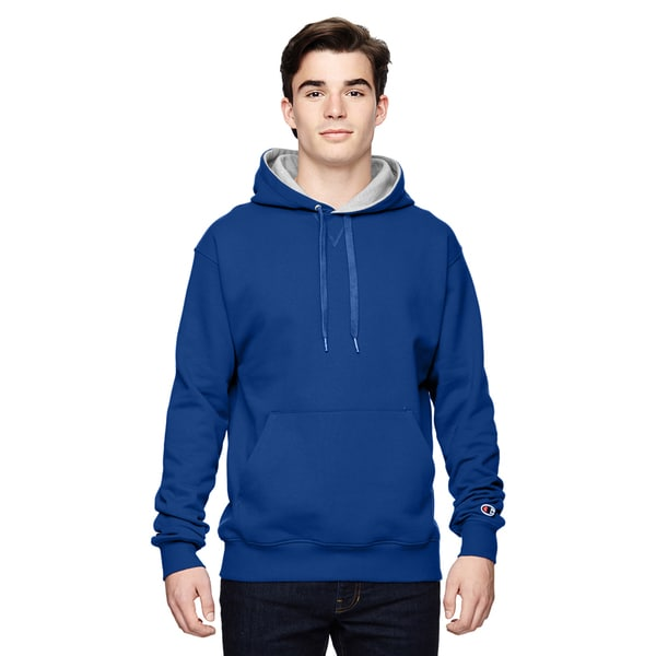 Men's Pullover Sport Royal/Athletic Heather Hood(S, XL) 20033682