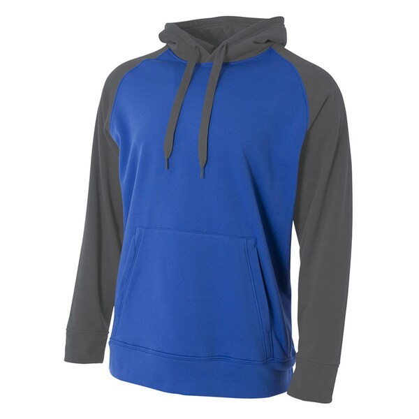 Color Block Men's Tech Royal/Graphite Fleece Hoodie (XL) 20033803