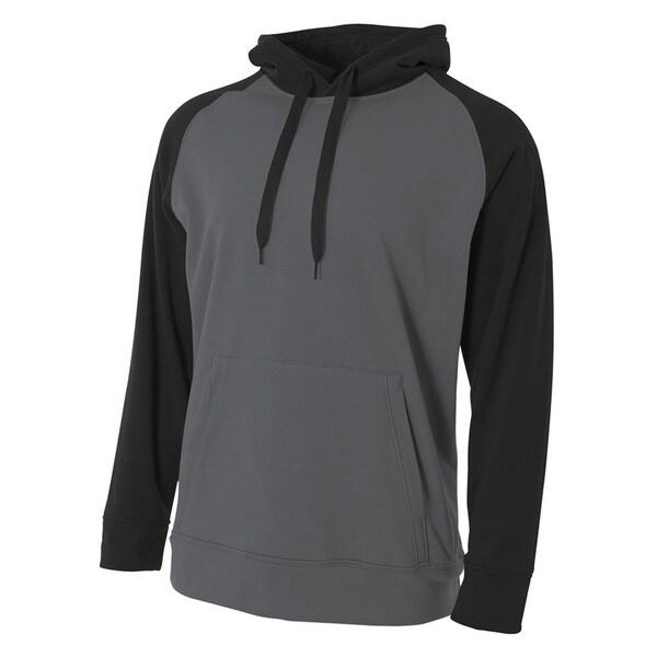 Color Block Men's Tech Graphite/Black Fleece Hoodie (XL) 20033872