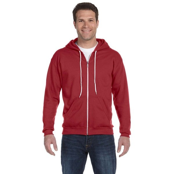 Men's Full-Zip Hooded Independence Red Fleece (XL)