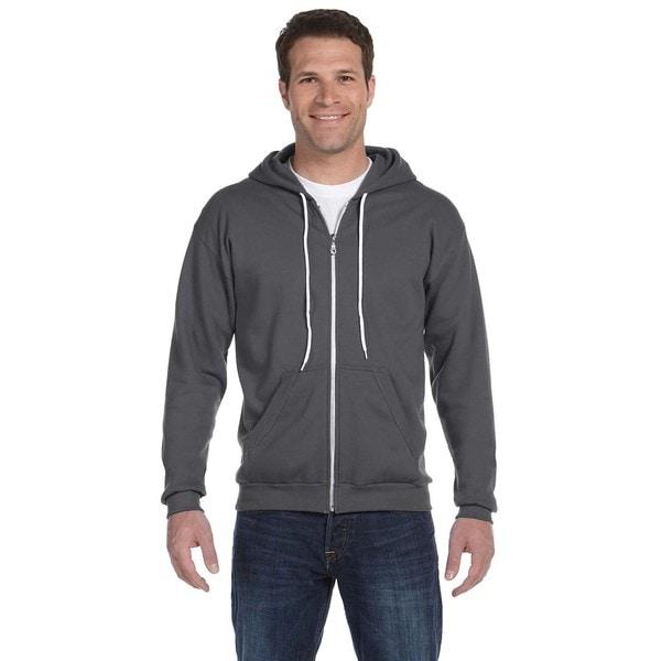 Men's Full-Zip Hooded Charcoal Fleece (XL) 20034070