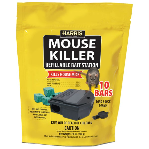 Harris MBARS Refillable Mouse Killer Bait Station