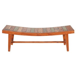 Reclaimed Boat Wood Bench (Indonesia)