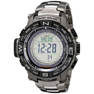 Casio Men's PRW3500T-7CR 'G-Shock Atomic' Digital Titanium Watch