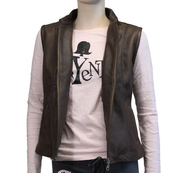 Gordillo Handmade Full-Zip Leather Vest (Ecuador)