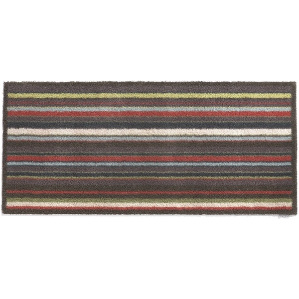 Hug Rug Eco-Friendly Dirt Trapper Multi Stripe Plum Washable Runner Rug (2'1.5 x 4'11)