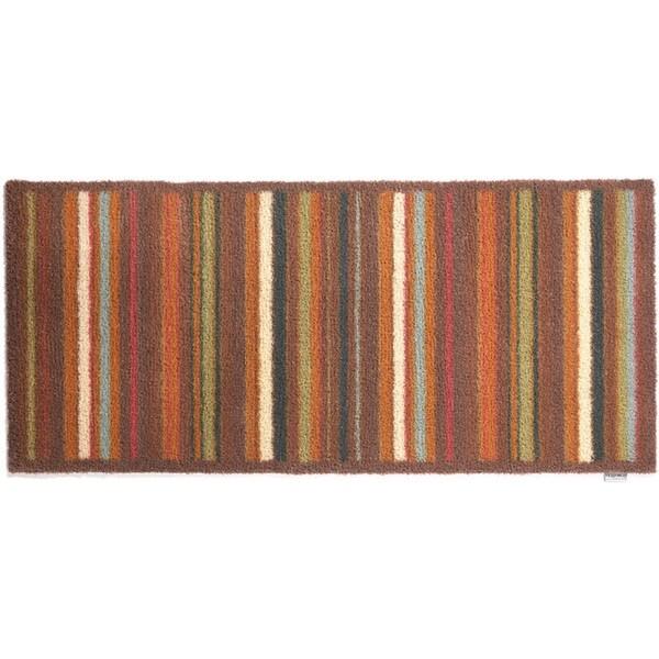 Hug Rug Eco-Friendly Dirt Trapper Multi Stripe Brown Washable Runner Rug (2'1.5 x 4'11)
