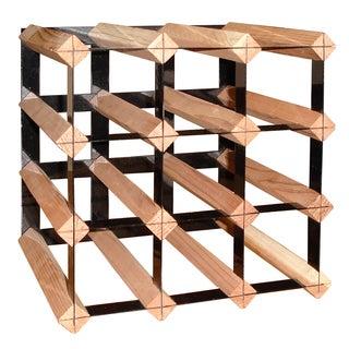 12-bottle Wood and Powder-coated Metal Cellar Trellis Wine Rack (Set of 2)