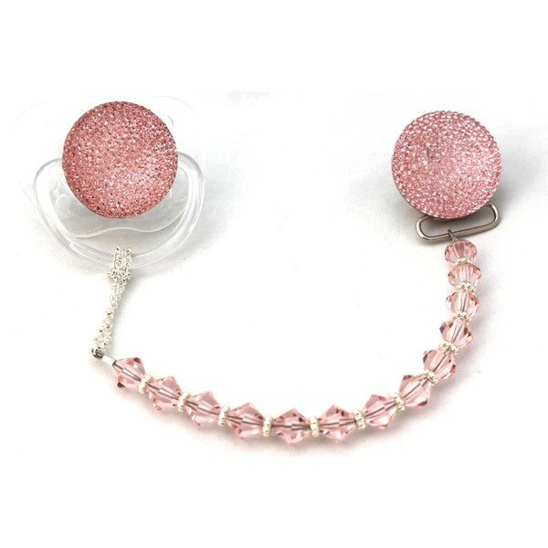 Sparkly Clear Gift Set Pacifier and Clip