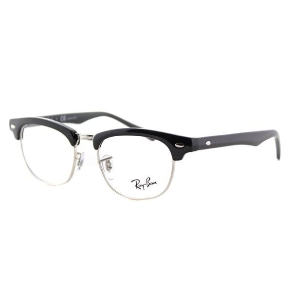Ray-Ban Junior RY 1548 3542 Kid's Clubmaster Black and Silver Plastic 45-millimeter Eyeglasses