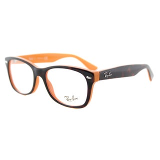 Ray-Ban Junior RY 1528 3661 Havana on Orange Plastic 48-millimeter Rectangle Eyeglasses