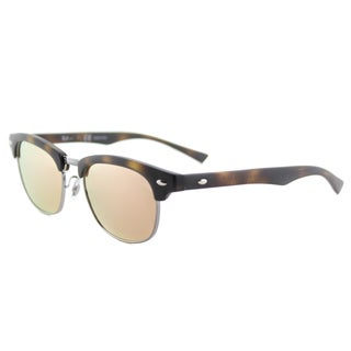 Ray-Ban RJ 9050S 70182Y Children's Clubmaster Matte Havana Plastic Sunglasses with Pink Flash Lens