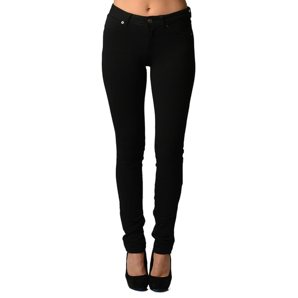 Dinamit Women's Black Ultra Stretchy Cotton/Spandex Jeggings