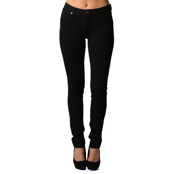 Dinamit Women's Black Ultra Stretchy Cotton/Spandex Jeggings