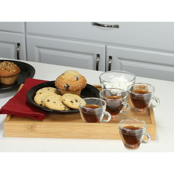 Haus by Kalorik Set of 4 Double-wall Glass Coffee/Tea Cups 4 Oz