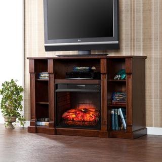 Harper Blvd Bernardo Espresso Infrared Electric Media Fireplace