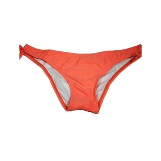 Women's Cheeky Key Hole Red Coral Lycra Bottom