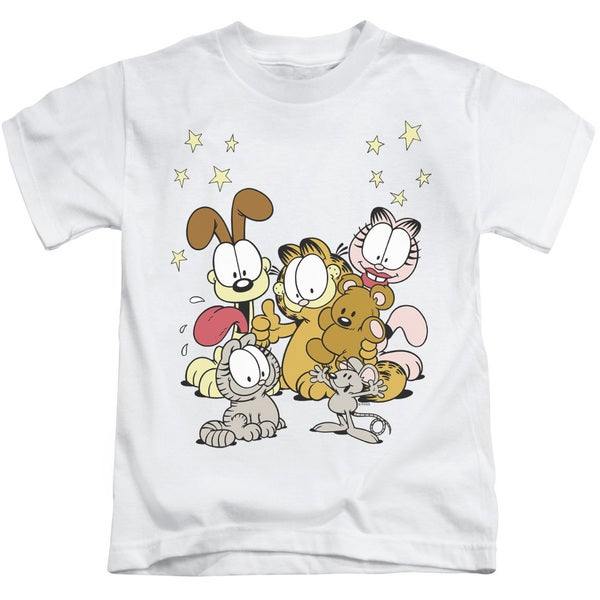 Garfield/Friends Are Best Short Sleeve Juvenile Graphic T-Shirt in White