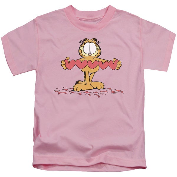Garfield/Sweetheart Short Sleeve Juvenile Graphic T-Shirt in Pink