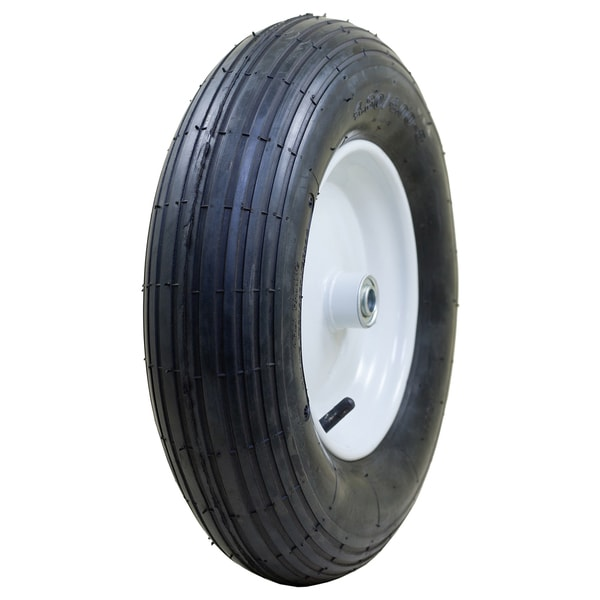 Marathon Industries 20063 4.80/4.00-8-inch Pneumatic Ribbed Wheelbarrow Tire 20039145