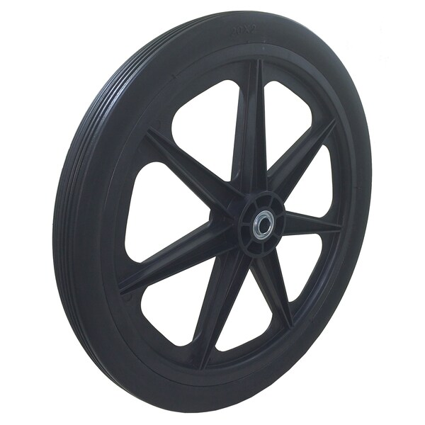 Marathon Industries 92001 20 X 2.0-inch Ribbed Tread Flat Free Cart Tire
