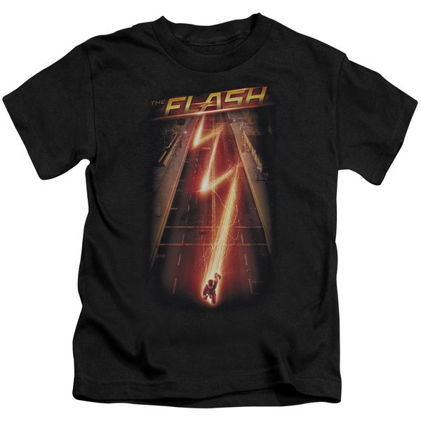 The Flash/Flash Ave Short Sleeve Juvenile Graphic T-Shirt in Black