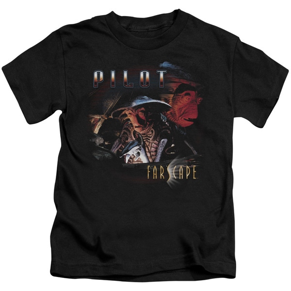 Farscape/Pilot Short Sleeve Juvenile Graphic T-Shirt in Black