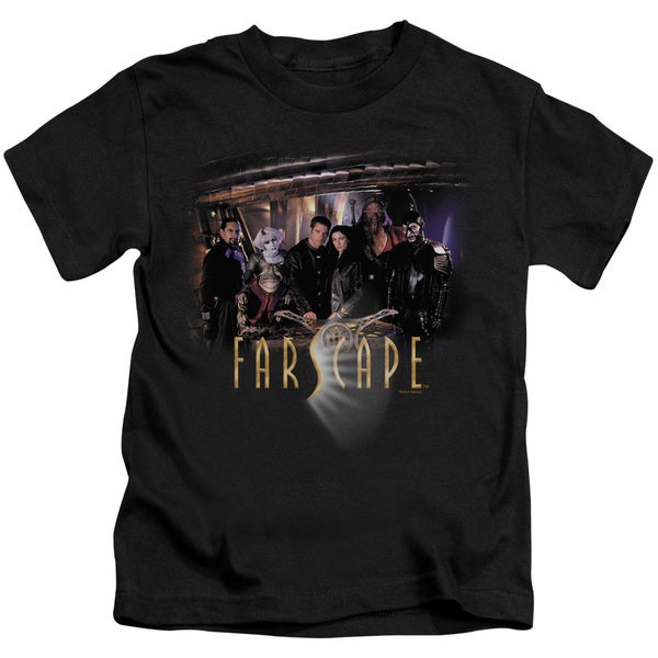 Farscape/Cast Short Sleeve Juvenile Graphic T-Shirt in Black