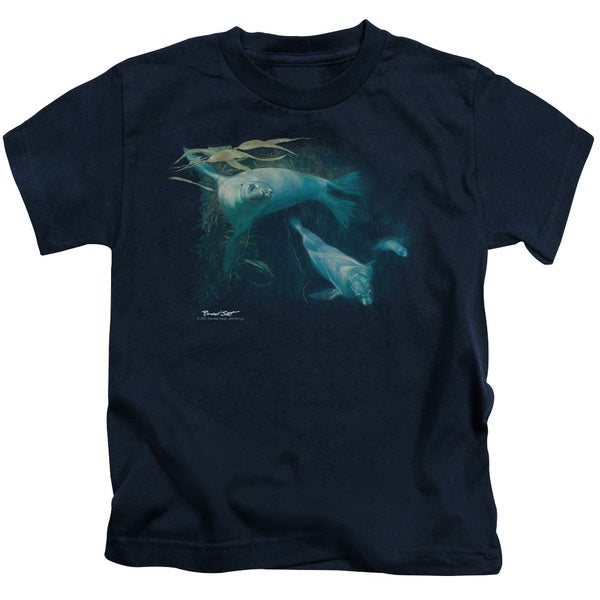 Wildlife/Kelp Patrol Short Sleeve Juvenile Graphic T-Shirt in Navy