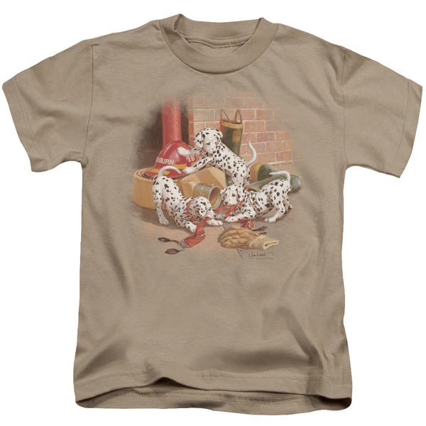 Wildlife/Wheres The Fire? Short Sleeve Juvenile Graphic T-Shirt in Sand