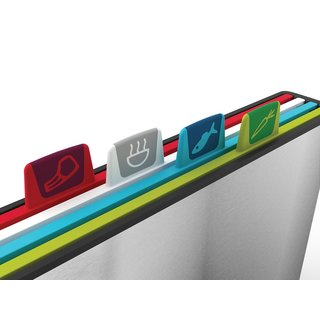 Joseph 100 Collection Plastic Index Chopping Board Set (Set of 4)